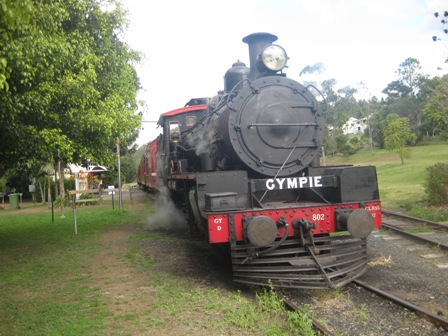 The Gympie-Imbil steam train