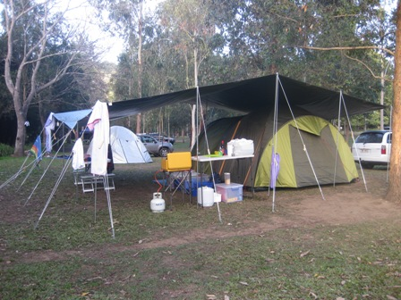 Our campsite at the Borumba Deer Park