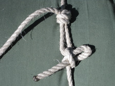 Knots used to tie up home made swag