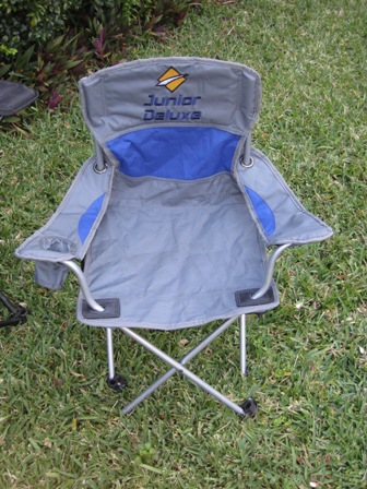 Broken OZtrail Junior Deluxe folding chair