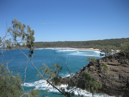 Noosa National Park; Hell's Gates in the foreground and Alexandria Bay in the background