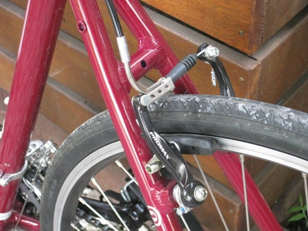 Fuji Absolute 3.0 hole in frame to fit different rear brakes