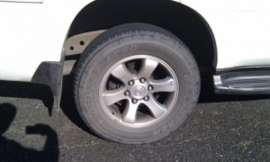 Goodyear AT20 Grandtreks fitted to a Toyota Prado