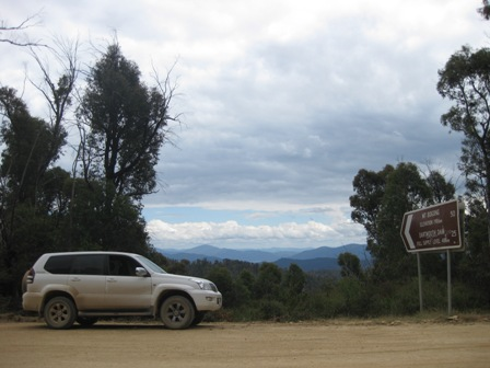 Standard Toyota Prado in the Victorian High Country
