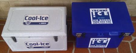 Waeco Cool-Ice (left) and Techni Ice iceboxes