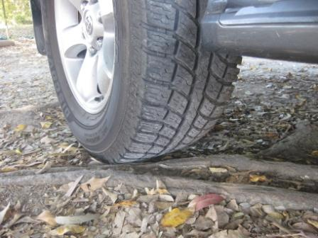 Cooper Tires ATR fitted to rear wheel of Toyota Prado