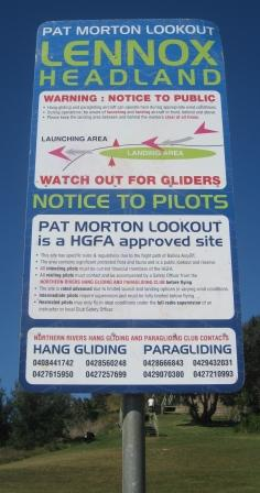 Notice to hang glider pilots